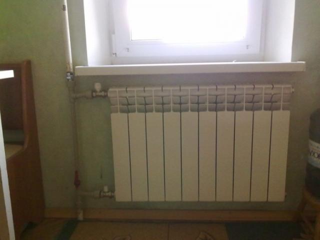 радиатор установка