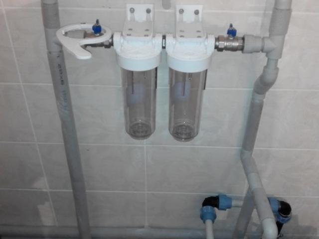 установка фильтров грубой очистки